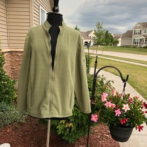 L.L.Bean Full Zip Fleece with pocket Sage Green 2X